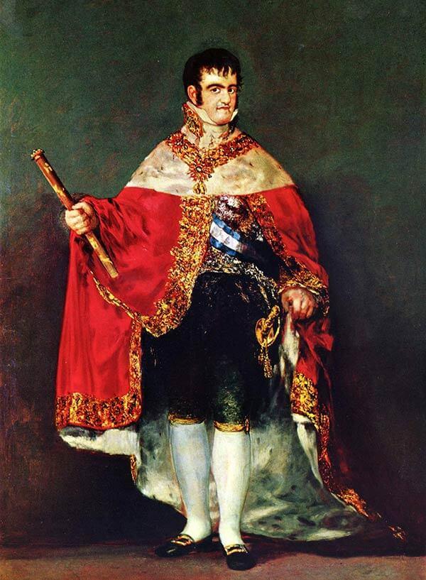 Король Испании Фердинанд VII