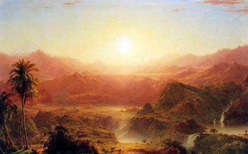 картина Эквадорские Анды, художник Черч